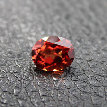 Madagascar mandarin garnet loose stone fancy faceted created gemstone beads for jewelry making diy gems stones names red orange(China)