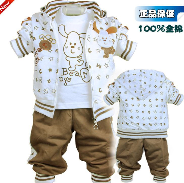 3pcs (Jacket+shirt+Pant) Boys Dog Style Suit, 3 colors, Boys Autumn Winter Clothes free shipping<br>
