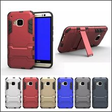 New Heavy Duty Cool PC+TPU Detachable 2 in 1 Hybrid Kickstand Phone Case for HTC One M9 Free Shipping
