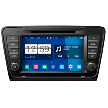Brand New 1024*600 HD Quad Core 16G 8'' Pure Android 4.4.4 Car PC for Skoda Octavia 2013 Car DVD Multimedia Player