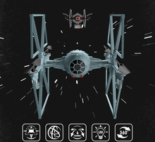 2.4G Drones Star Wars Remote Control tie fighter Quadcopter rc helicopter Airship With Lights Best Gift  Free Shipping