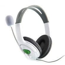 High Quality New Headset Headphone with Mic Microphone Earphone for XBOX 360 Gaming Headset White(China)