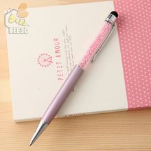 Cute Kawaii Metal diamond Crystal ball point Pen Touch Ball pen for Ipad screen ebay Gift School Office Supplies classic 500 pcs
