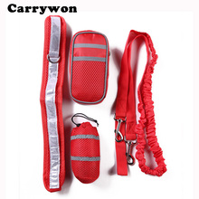 CARRYWON Pet Sport Suit Reflective Traction Rope Dog Adjustable Leash Dogs Puppy Treat Pouch For Outdoor Training Food Snack Bag