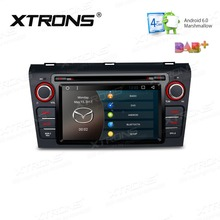 XTRONS 7 inch Android 6.0 2 din Head Unit Car DVD Player Radio GPS Navigate DAB+OBD2 for Mazda 3 2004 2005 2006 2007 2008 2009