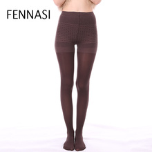 Buy FENNASI Women's Warm Tights High Waist Nylons Lady Pantyhose Compression Plus Size Tights Print Sexy Pantyhose Women's Stockings