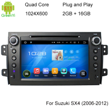 ROM 16G 1024*600 Quad Core Android 5.1.1 For SUZUKI SX4 2006- 2008 2009 2010 2011 2012 Car DVD Player Navigation GPS TV 4G Radio