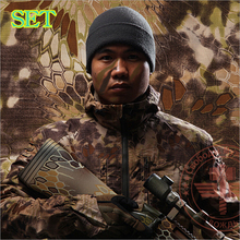 Hunting Clothing Chiefs Tactical Python Pattern Camouflage Set(Coats+Pants+Caps) Outdoor Camping Shooter Suit Chasse DHL FREE(China)