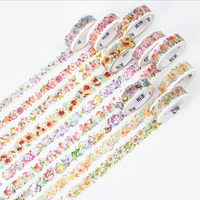 Beautiful Flower Washi Tapes Best Decorative DIY Supply Paper Tapes Album Diary Decoration Sticker Adhesive Tape