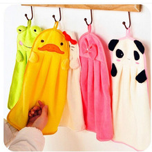 Cute Children Nursery Hand Towel Cartoon Animal Kitchen Bath Hanging Wipe Towel(China)