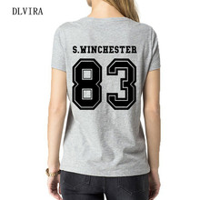 DLVIRA S-XXXL S.winchester 83 back Letters Print Women TShirt Casual Cotton Funny Tshirt For Lady Top Tee(China)