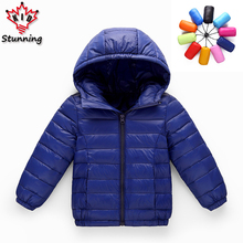 24M-11T Big Size Children Outwears&Coats 2017 Kids Coats Winter Hooded Boy Down Jacket Warm Thicken Girl White Duck Down Coat(China)