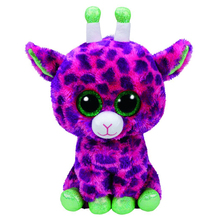 "Pyoopeo Ty Beanie Boos 6"" 15cm Gilbert Giraffe Plush Stuffed Animal Collectible Big Eyes Doll Toy"