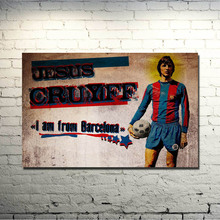 POPIGIST-Johan Cruyff Football Legend Art Silk Poster 13x20 inch Netherlands Soccer Star Pictures for Living Room Decor 002
