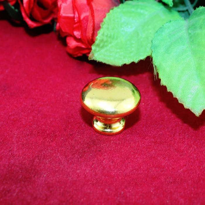 25mm Golden Zinc alloy handle wooden Box Round Knobs furniture hardware cabinet door drawer Dresser Handles Pulls<br><br>Aliexpress