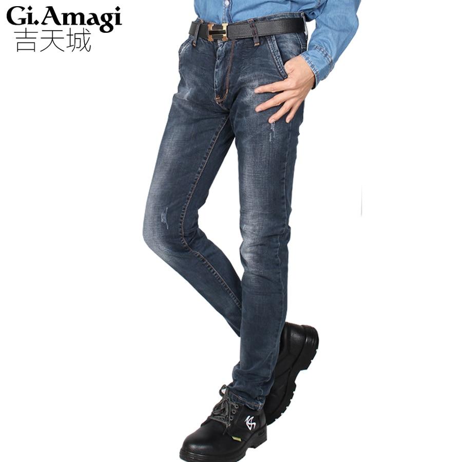 2017 Summer Korean version Wash Jeans mens Slim Straight stretch Mens  jeans wholesale high qualityОдежда и ак�е��уары<br><br><br>Aliexpress