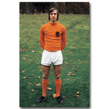 NICOLESHENTING Johan Cruyff Football Legend Art Silk Poster Print 13x20 24x36inch Netherlands Soccer Star Picture Room Decor 005