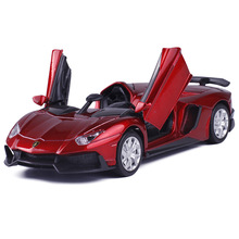 Four Colors Diecast Metal Alloy Car 1:32 Pull Back Sport Car Model Simulation Autos with Sound&Light Boys Collection Oyuncak