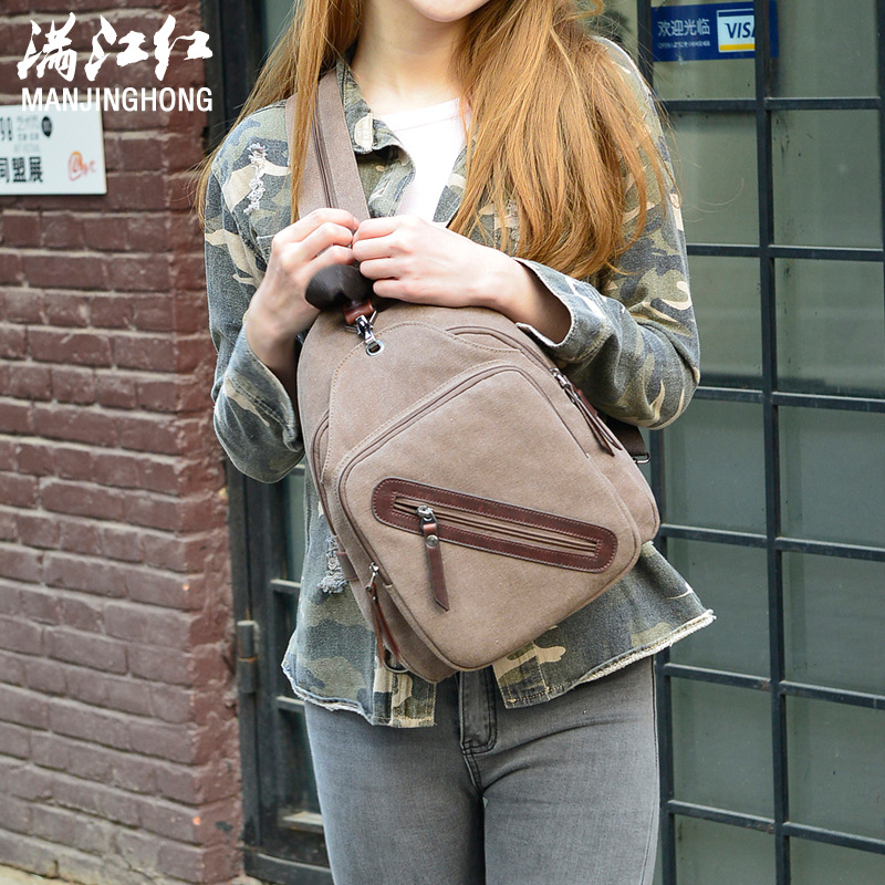 High Quality Multifunctional Canvas Backpack Girl Summer Travel Bag Black Khaki Coffee Male Female Backpack<br>