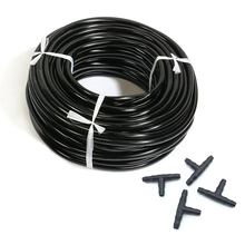20m Hose Free Shipping Irrigation 4/7 Mm Pipe Used In Garden Lawn Sprinkler Canopy Assembly Handsel 10 Pcs Tee(China)