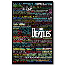 NICOLESHENTING The Beatles Motivational Art Silk Poster Fabric Print 12x18 24x36 inches Rock Music Band Wall Picture Room Decor(China)