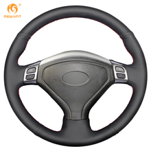 MEWANT Black Artificial Leather Car Steering Wheel Cover for Subaru Forester 2004-2006 Outback 2004 2005 Legacy 2004-2006(China)