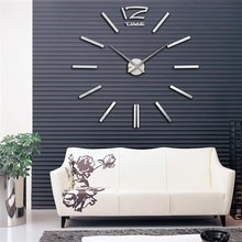 Charminer Quartz Clocks Fashion Watches 3D Real Big Wall Clock Rushed Mirror Sticker DIY Living Room Decor Modern Acrylic Art