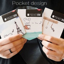 New Fashion Cute Paris Tower Pocket design Memo Notepad/Sticky note/Writing scratch pad/office school supplies