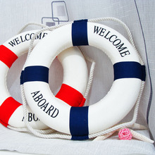 Hot Sale 1PC Fashion Mediterranean Family Adorment Life Buoy Crafts Living Room Decoration Nautical Home Decor
