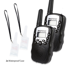 2pcs Baofeng T-3 Handheld Walkie Talkie 1.9 Miles CTCSS VOX Flashlight FRS GMRS LED Display Ham Two-Way Radio Transceiver