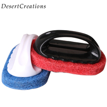 1PC PP Handle Sponge Kitchen Cleaning Brush  Brush Kitchen Bathroom Window Smoke Lampblack Machine Cleaner