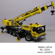 LEPIN 20004 260Technic Motor Power Mobile Crane Mk II Model Building Kits toy figures Blocks Bricks Children 42009 - MrJanson store