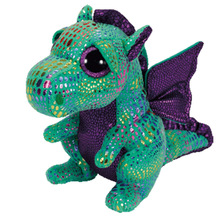 25cm 10'' Ty Original Beanie Boos Plush Toy Cinder Green Dragon Stuffed Animal Doll Big Eye Kids Toy Soft Cute Birthday Gift(China)