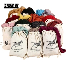 Hayoha 185* 155 cm New Fashion Cotton and linen pure color scarf art van large shawl warm scarf women