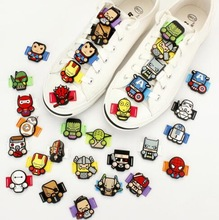 Cute Cartoon Style Silicone Shoelace Buckle DIY Shoes Decorations One Pair Free Shipping