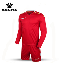 KELME 2016 Wholesale K16Z2004L Men Autumn Long Sleeve Thin Training Light Board Team Football Jersey Suit Red