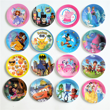 10pcs/lot paper plate cartoon Mickey Minnie Trolls Avengers Emoji Pokemon Go Kids Birthday party supply event party supplies(China)