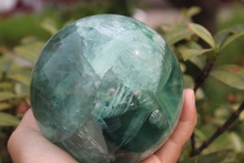 King of rare natural quartz crystal green fluorite best ball to heal A1(China)