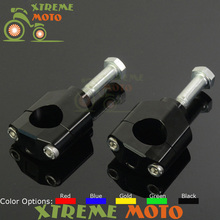28MM HandleBar Fat Bar Mounts Clamp Riser For Honda CR125 CR250 CRF250R CRF450 Kawasaki KX125 KX250 KXF250 KXF450 Suzuki RMZ250(China)