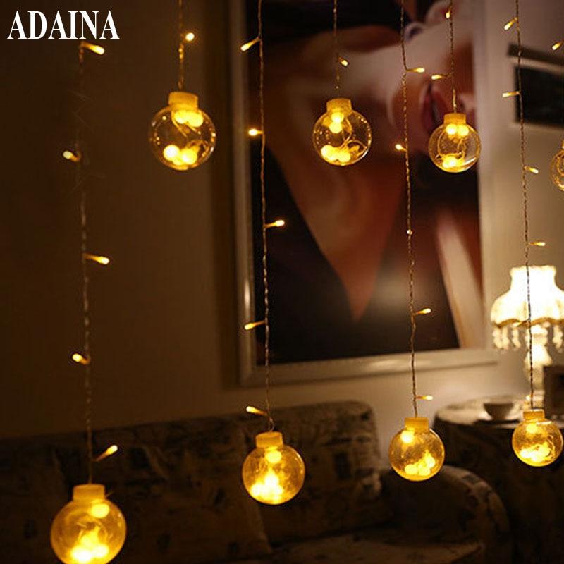 Curtains Crystal Balls Outdoor Waterproof Fairy String Lights Home Decoration Fiestas Lamp,Garland lighting Wedding Luminarias<br>