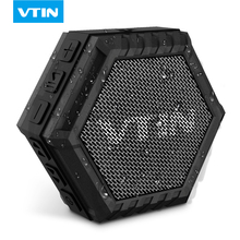 VTIN Outdoor Bluetooth Speaker Mini Portable Waterproof Crashproof Splashproof Stereo handsfree bass with Driver Built-in MIC