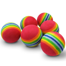 Free Shipping Hot NEW 30pcs/bag EVA Foam Golf Balls Red Rainbow Sponge Indoor Practice Training Aid