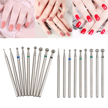 Pro 1pc Diamond Grinding Head Nail Bit Jade Carving Burrs Stone Metal 2.34mm Shank Drill Bits Manicure Machine Accessories