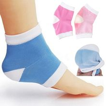 1Pair Silicone Moisturizing Gel Heel Socks Cracked Foot Skin Care Protector(China)