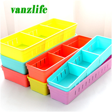 vanzlife kitchen plastic cutlery drawer with grid storage box free partition cupboard refrigerator organize cases(China)