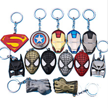 The avengers ironman Deadpool keychain ring toy set 2016 New Superhero Spiderman Captain America shield helmet party decoration(China)
