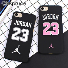 Clespruce Basketball Chicago Bulls NO23 Jordan PC Cover Case For iPhone 8 8plus 7 6 6s Plus 5 5s SE Jumpman Sports Phone Cases(China)