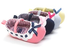 New Princess Baby Girls Kids Prewalker Maryjane Shoes Infant Toddler Crib Babe Girl Soft Soled Stripe Flower Loafer Ballet Flats(China)