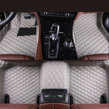 Auto Floor Mats For Audi A3 Sportback 2014-2017 Foot Carpets Step Mats High Quality Brand New Embroidery Leather Mats(China)