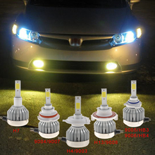 Auto led light bulbs 12 volt 60W 6000LM COB Led fog lamp- H4/9003 H7 H11 9005 9006 H1 H3 H4 H7 H11 HB4 HB3 Led light 3000K